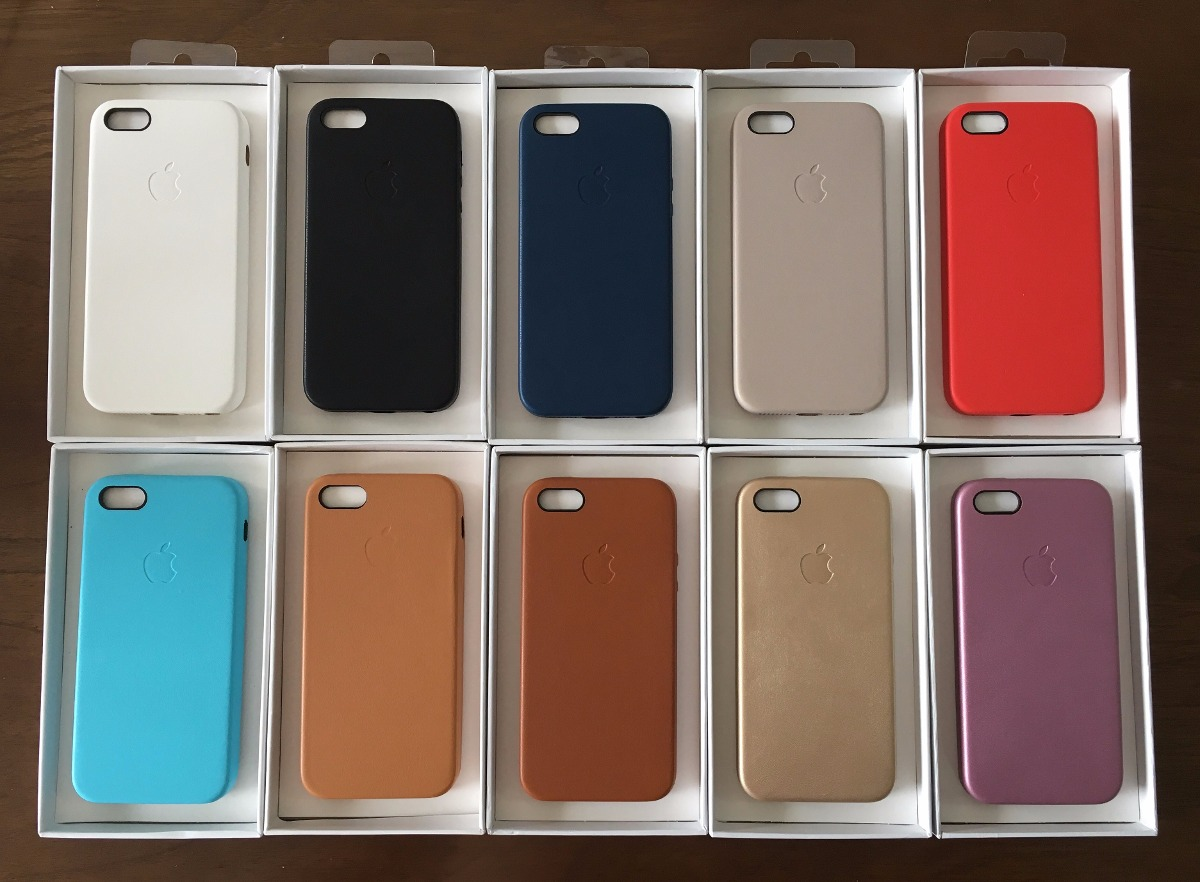 5c56bb9e625 funda iphone 5 5s se apple original cuero + vidrio gorila. Cargando zoom.