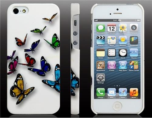 funda iphone 5 diseño original - con mariposas