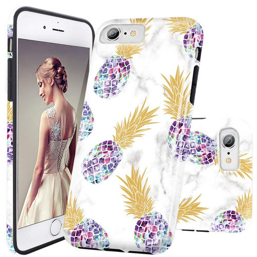 funda iphone 5, iphone 5s se, doujiaz shiny marble design cl