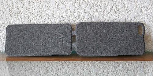 funda iphone 5 y 5s pu de alta densidad textura piedra