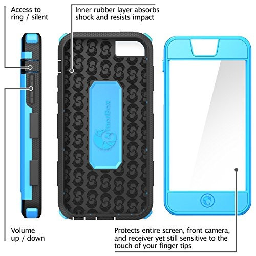 funda iphone 5c, i-blason armorbox para apple iphone 5c dual