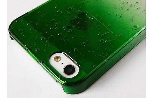 funda iphone 5s se protector rigida, efecto gotas + vidrio
