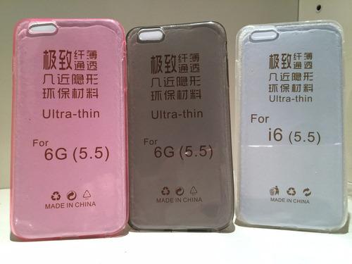 funda iphone 6-6 plus tpu 0.3mm traslucida ultra fina + film