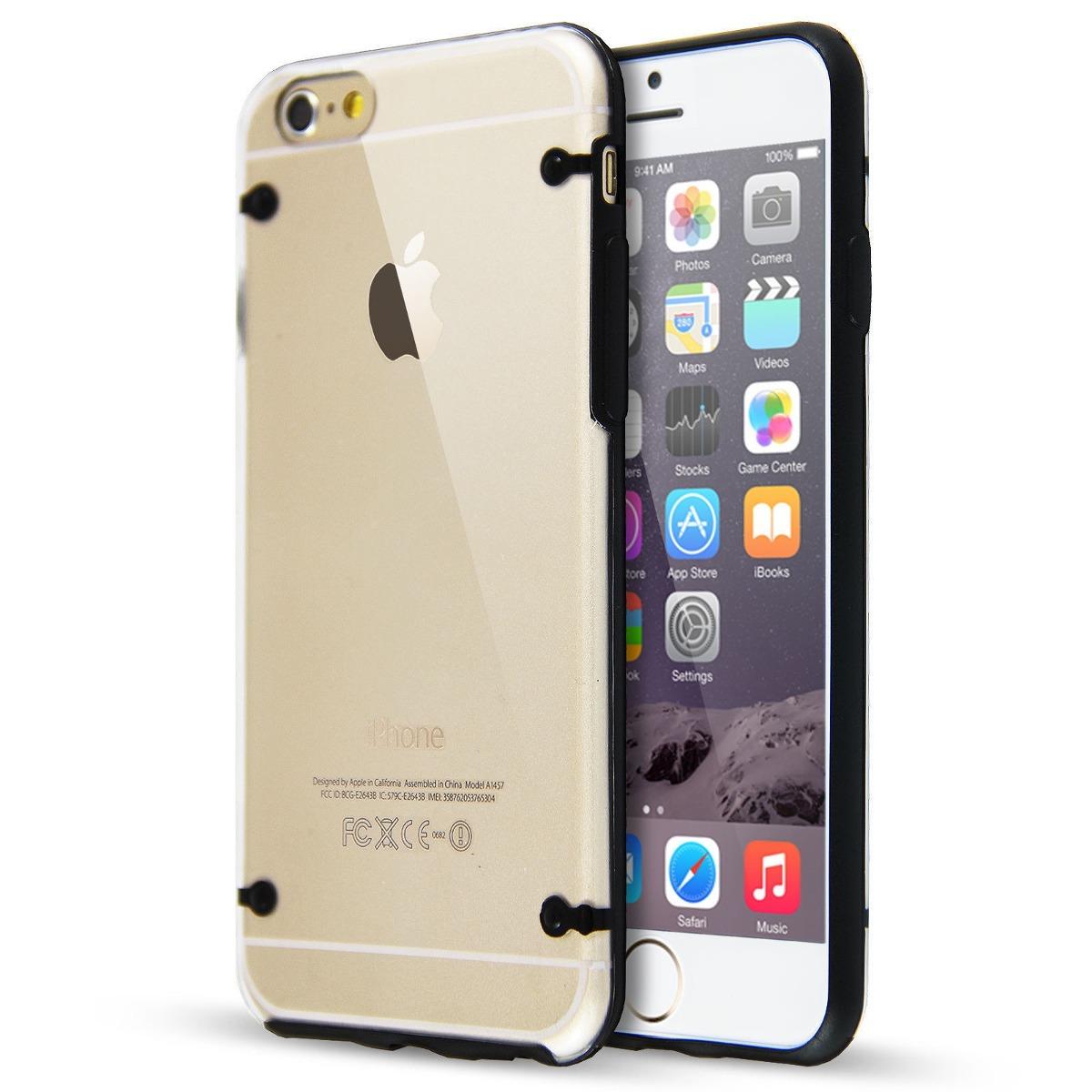 40c9aba7b82 Funda iPhone 6 6 Plus Ultrafina Acrilico Borde Color - $ 99,99 en ...