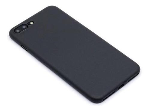 funda iphone 6 6s 7 7 plus negro mate fina (thin/slim)