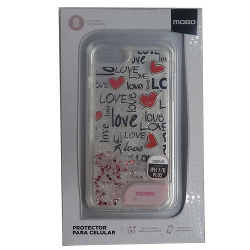 1e30b1c05df Funda iPhone 6 6s 7 Plus Mobo Liquid Led Love - $ 180.00 en Mercado ...