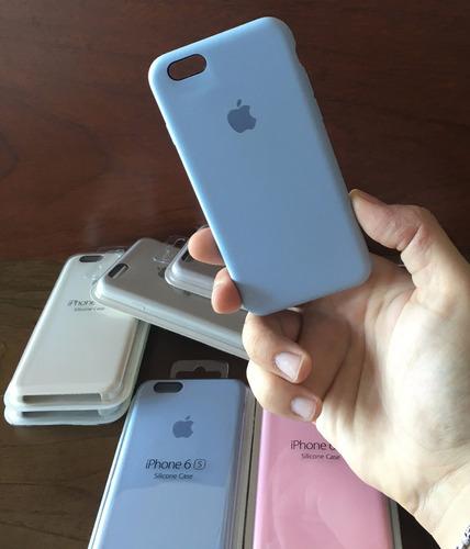 funda iphone 6 6s apple original silicona soft - 4 locales