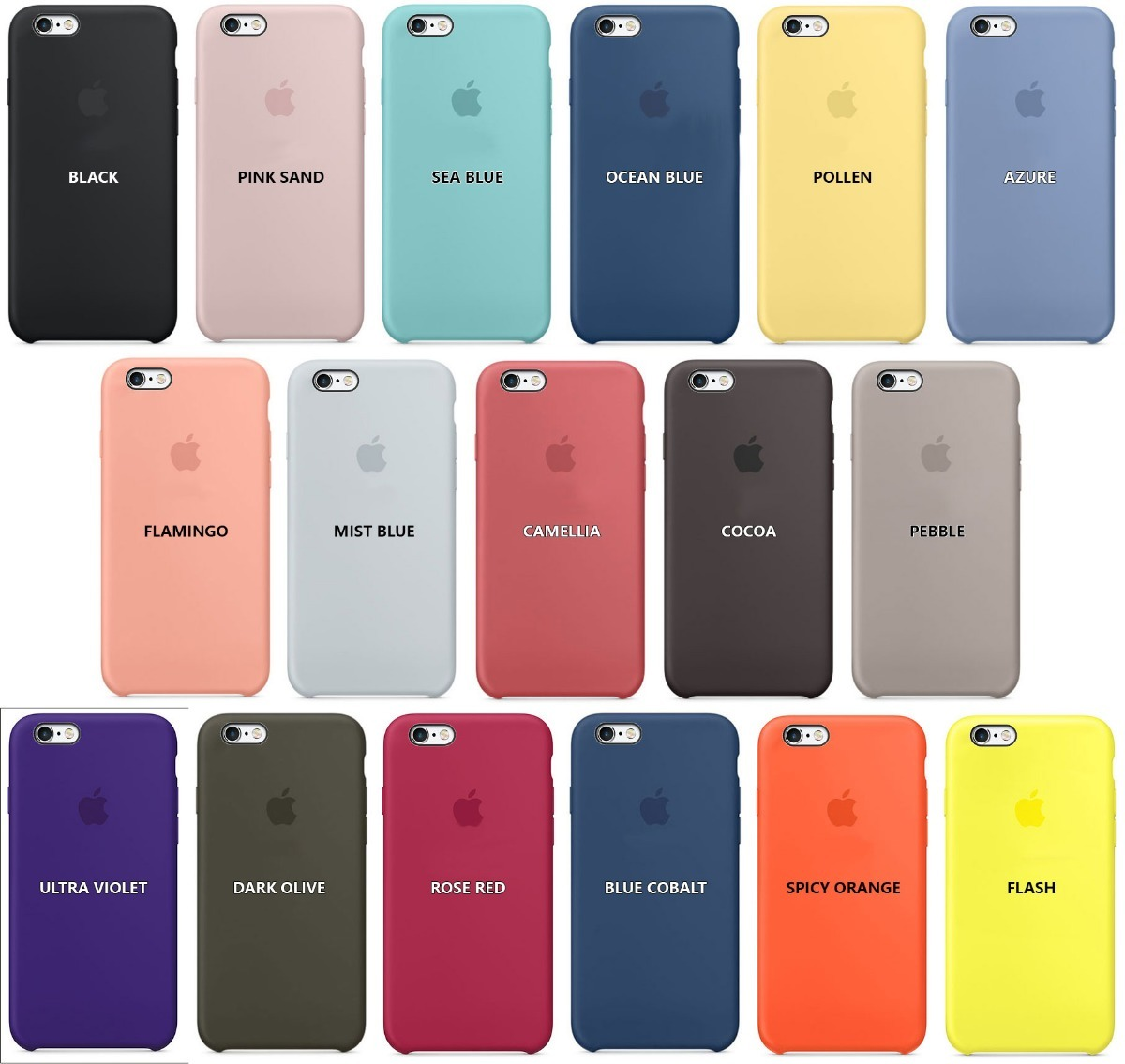 636d6cd1378 funda iphone 6 6s apple original silicona soft - 5 locales. Cargando zoom.
