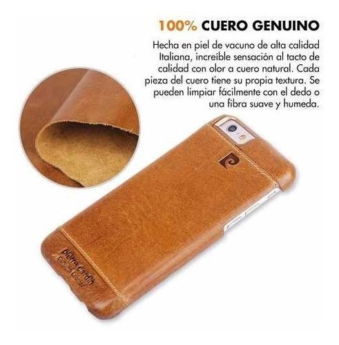 funda iphone 6 6s de cuero genuino pierre cardin premium usa