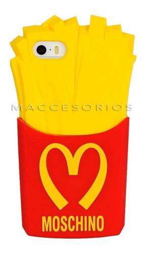 funda iphone 6 6s moschino - papa frita - fries silicona