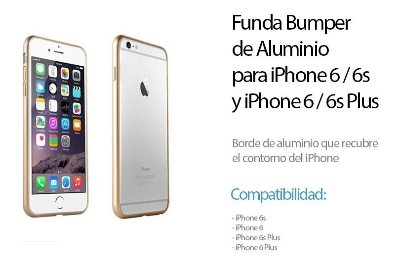 f8fda989ec0 funda iphone 6 / 6s plus bumper aluminio + vidrio - ifans. Cargando zoom.