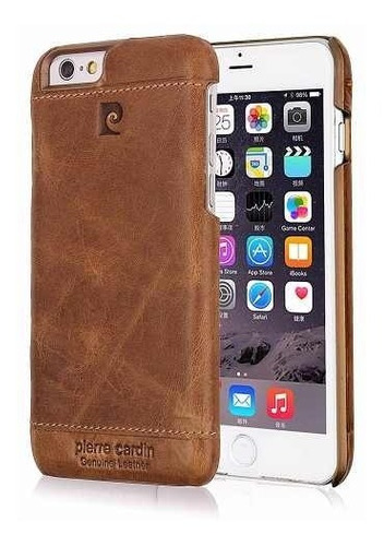 funda iphone 6 6s plus cuero genuino pierre cardin premium