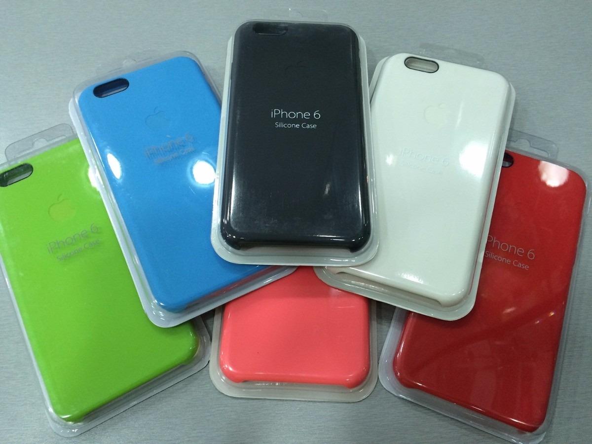 7cb143ae7c2 funda iphone 6 apple silicone case original apple 100% color. Cargando zoom.
