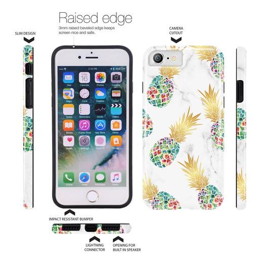 funda iphone 6, iphone 6s, doujiaz shiny marble design clear