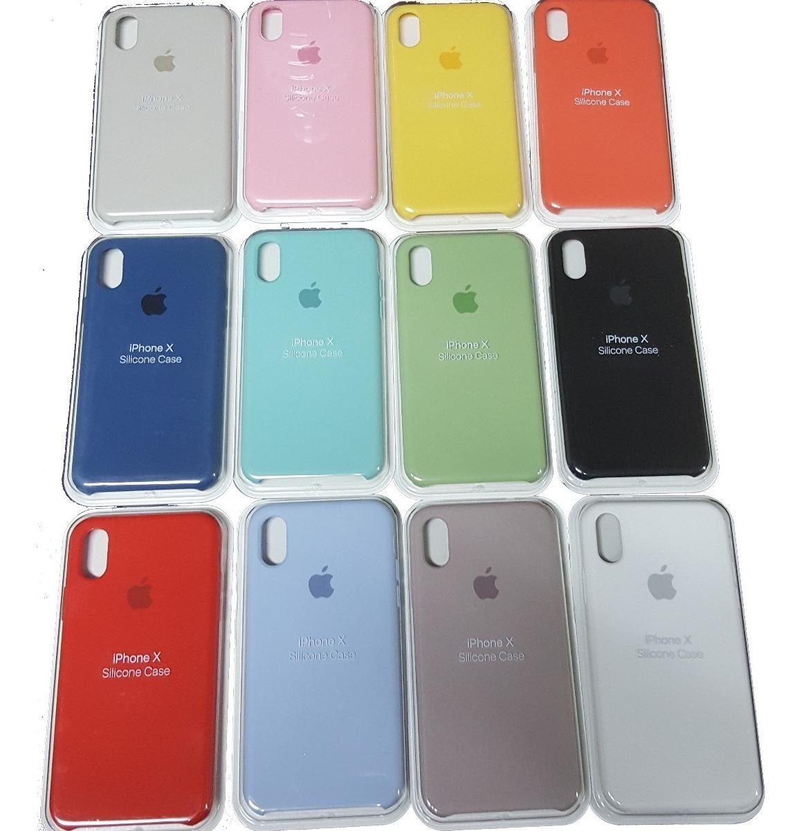 35d3aa15ede Funda iPhone 6 Plus 8 7 X Silicona Soft P/ Apple + Templado - $ 550 ...