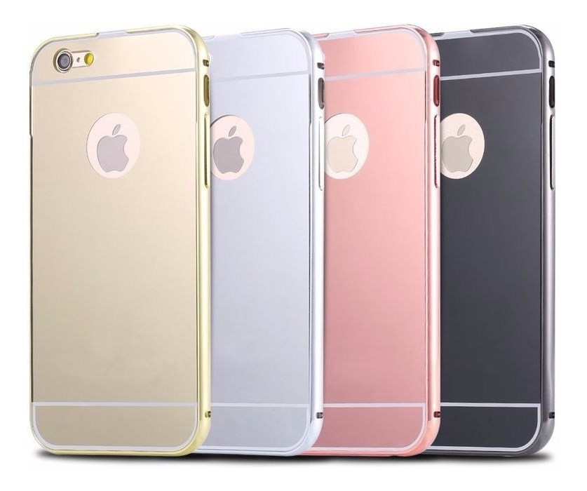 2057baf9c15 Funda iPhone 6 Plus Espejo Aluminio Solo Color Negro - $ 120,00 en ...