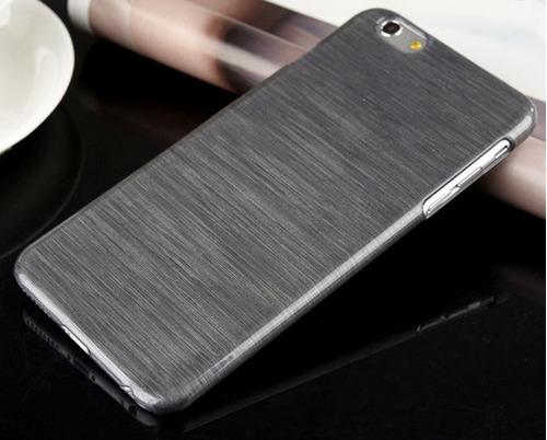 funda iphone 6 ultrafina rayas slim + vidrio de regalo