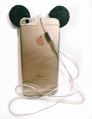 funda iphone 6/6s mickey mouse brillos