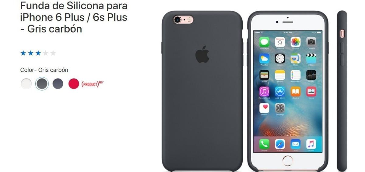 33c929e257e funda iphone 6/6s plus original apple silicona gris grafito. Cargando zoom.