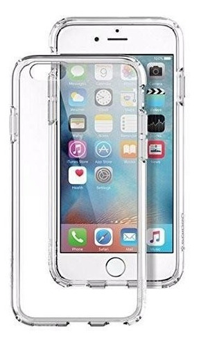 funda iphone 6/6s plus spigen ultra hybrid crystal clear