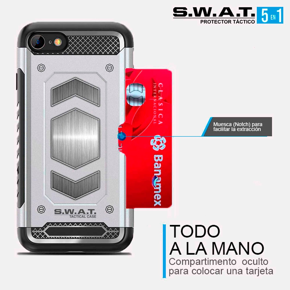 funda iphone 6 tarjetero