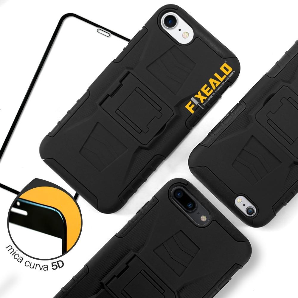 a94ad3f6a79 funda iphone 7 6 8 / plus protector uso rudo + mica 5d curva. Cargando zoom.