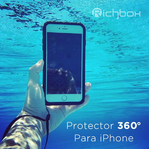 funda iphone 7 8 agua sumergible protector antigolpe playa