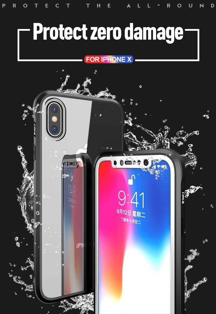 ca9fb0b00dc funda iphone 7 8 plus x 360 cristal templado transparente. Cargando zoom.