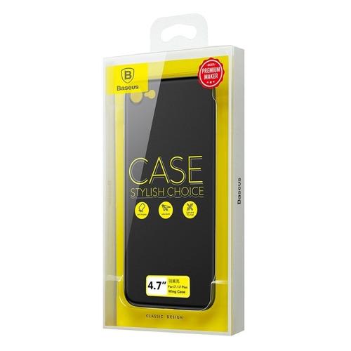 funda iphone 7 & 8 super slim marca baseus + vidrio templado