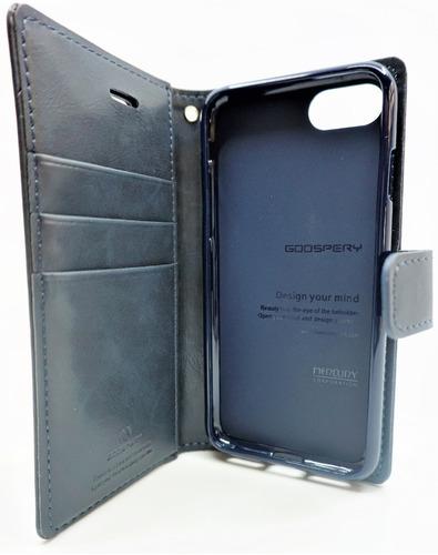 funda iphone 7 goospery bluemoon diary cartera navy