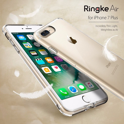 funda iphone 7 plus 100% ringke air  anti impacto original