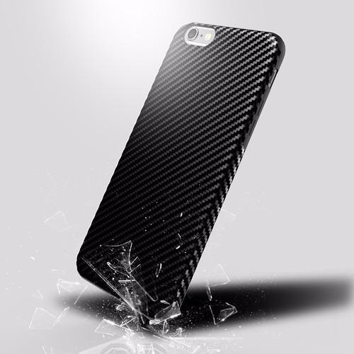funda iphone 7 plus cubierta patron fibra de carbono