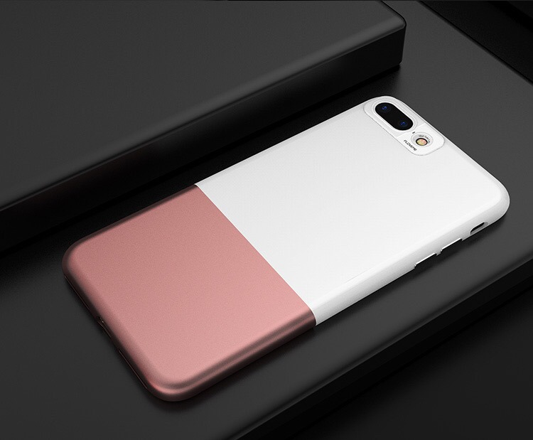 38acae70768 Funda iPhone 7 Plus Ultra Slim Rígida Blanca Y Rosa - $ 300,00 en ...