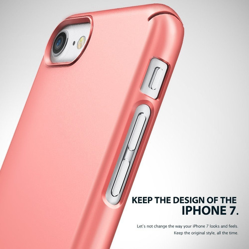 funda iphone 7 slim ringke - rose gold / gold / frost pink