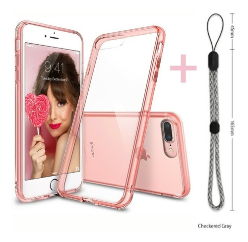 funda iphone 8 & 8 plus ringke® fusion + correa de mano