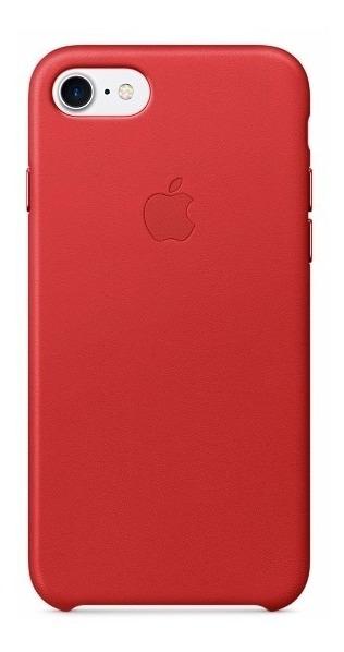 Funda iPhone 8 Plus 7 Plus Apple Cuero Leather Case Azul - $ 900