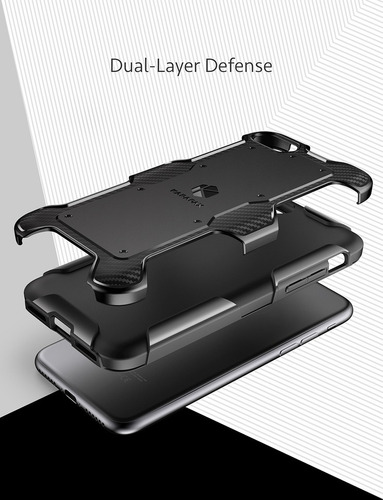 funda iphone 8/7 anker karapax - shield+ - fibra de carbono