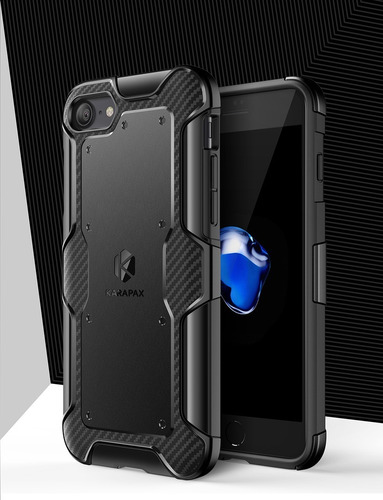 funda iphone 8/7 anker karapax - shield+ - fibra de carbono