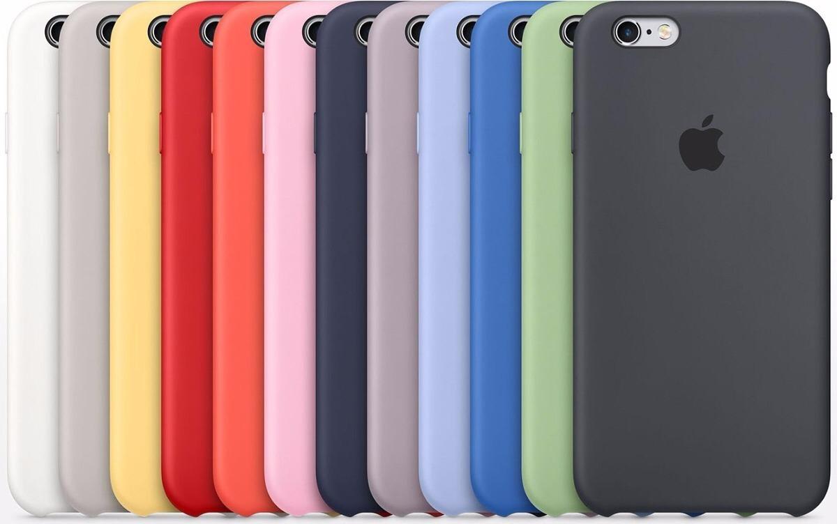 8113799954f Carcasa Funda Silicona Apple Original iPhone 6 S 7 8 X Plus - $ 13.900 en Mercado  Libre