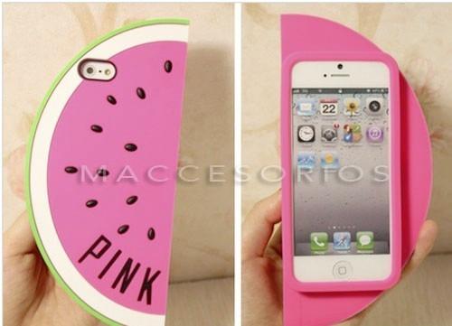funda iphone se 5 5s 3d victoria secret sandia pink silicona