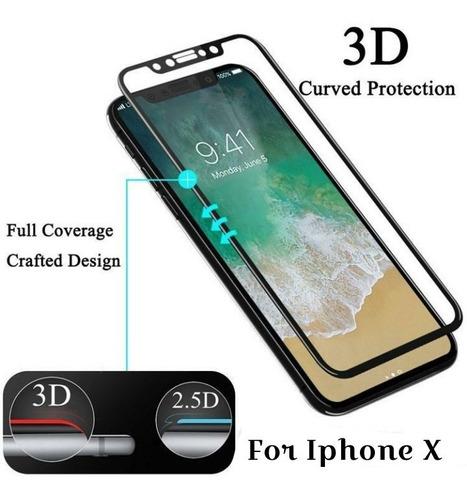 funda iphone x 10 ringke air + vidrio templado full cover 3d