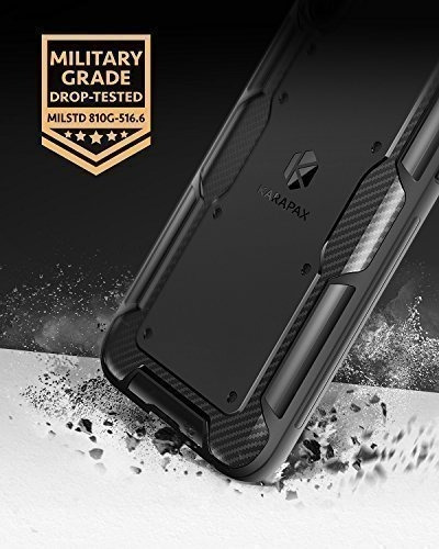 funda iphone x - anker karapax - shield - fibra de carbono