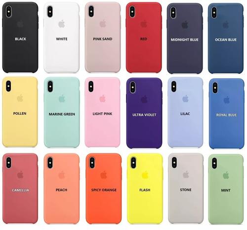 funda iphone x xr xs max silicone case iphone original