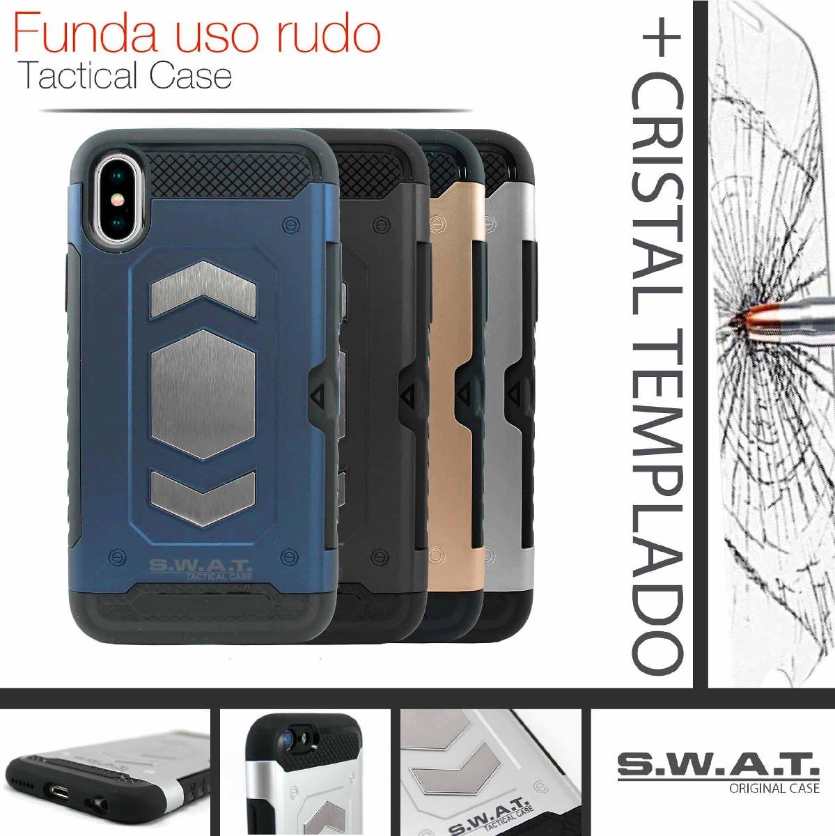 faf97add3d9 funda iphone x / xs uso rudo tarjetero magnetico + cristal. Cargando zoom.