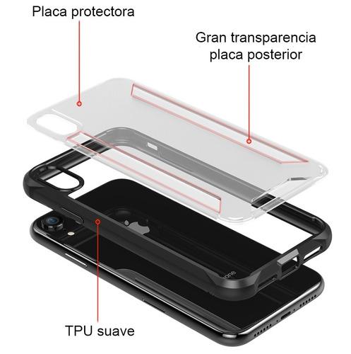 funda iphone x xs xr xs max shoockproof acrilico antigolpe