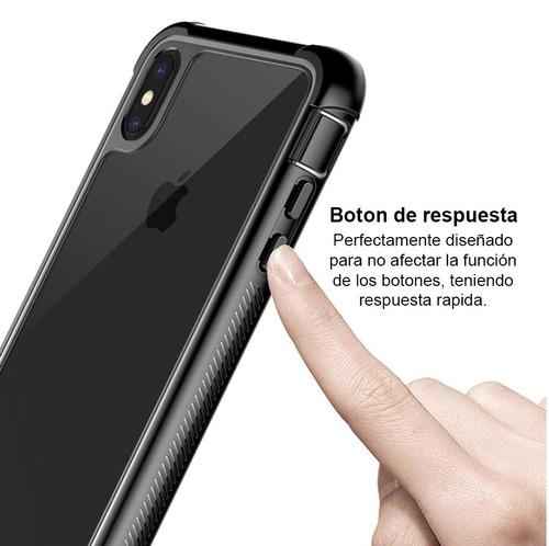funda iphone  xr x xs full body con protector de pantalla