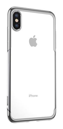 funda iphone xs max anti impacto baseus metalizada case transparente
