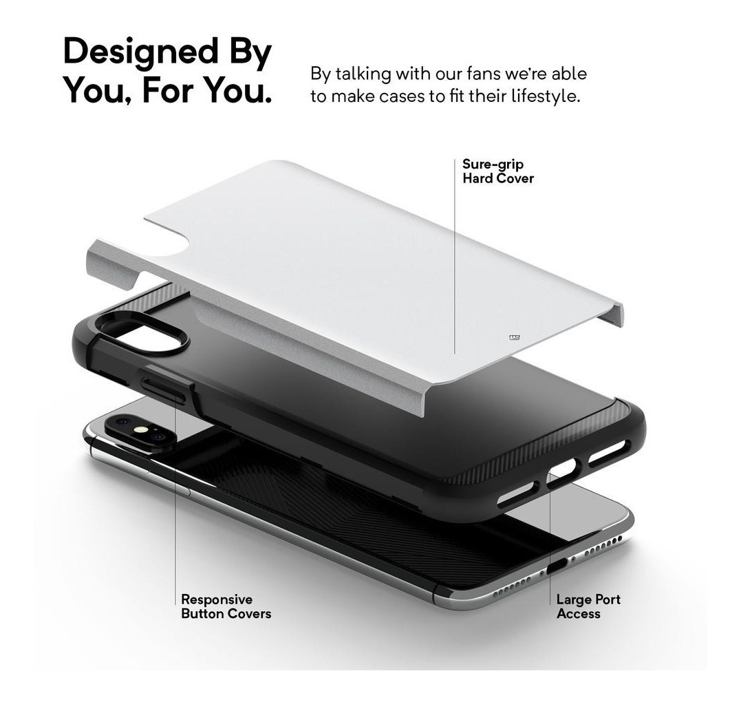 Funda iPhone Xs Max Caseology Legion Silver Original