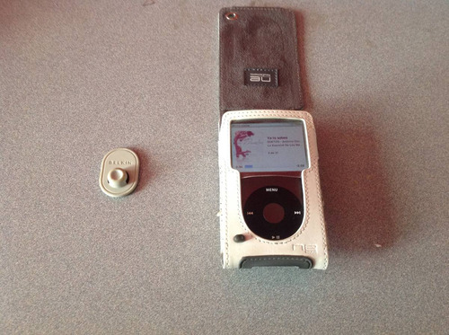 funda ipod classic marca belkin piel sintetica con broche