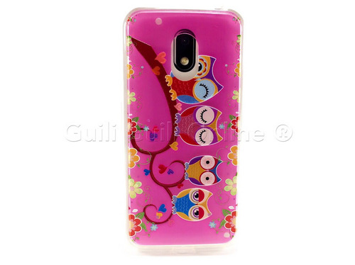 funda jelly case moto g4 play diseño buho suave protector